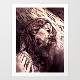 Sleeping in the Woods Art Print