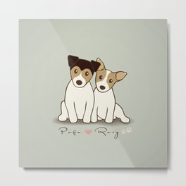 Pogo and Roxy Metal Print