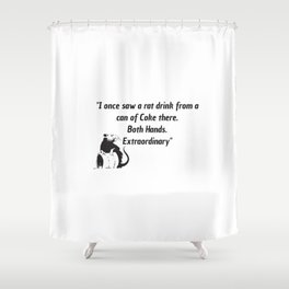 killing eve quote art work Shower Curtain