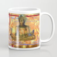 meditation Mugs featuring Meditation by Paola Canti