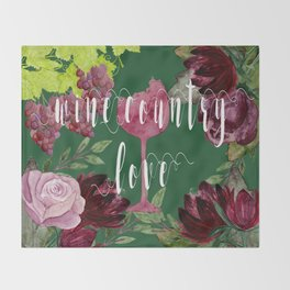 Wine Country Love Throw Blanket