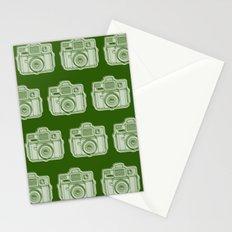 I Still Shoot Film Holga Logo - Reversed Green Stationery Cards