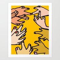 Hands Being Hands Art Print
