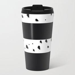 Paint Splatters with Stripes Travel Mug