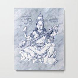 Saraswati Metal Print