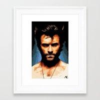 xmen Framed Art Prints featuring Xmen Hugh Jackman Wolverine Pop Art Poster by NLopezArt