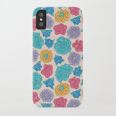 RocoFloral (peach) Slim Case iPhone X