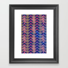 Chevron and  Geometric with pink Framed Art Print