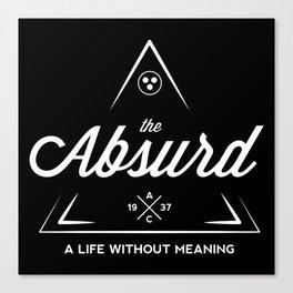 The Absurd (White on Black) Canvas Print