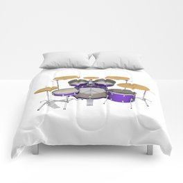 Purple Drum Kit Comforters