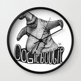Oogie Boogie Ink Drawing Wall Clock