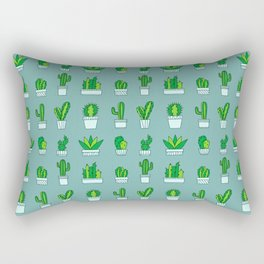 Succulent Garden Rectangular Pillow