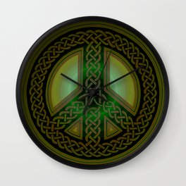 Celtic Knot of Peace Wall Clock