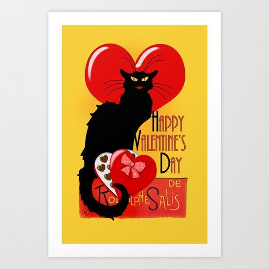 Le Chat Noir Valentine Art Print