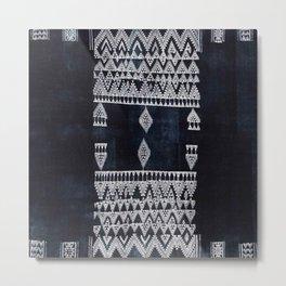 Arteresting V48 - Indigo Anthropologie Bohemien Traditional Moroccan Design Metal Print