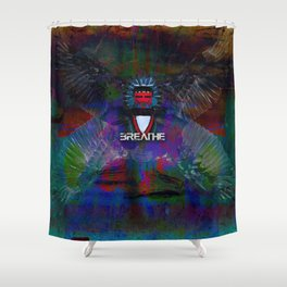 Breathe IV Shower Curtain
