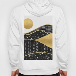 Gold Sun, digital surreal landscape Hoody