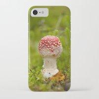 mushroom iPhone & iPod Cases featuring Mushroom by Mirella von Chrupek