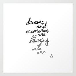 Bastille Sleepsong lyrics Art Print