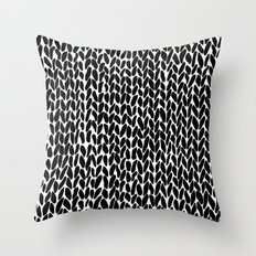 Hand Knitted Black S Throw Pillow