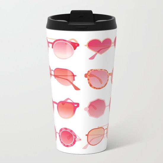 Sunglasses Collection – Pink Ombré Palette Metal Travel Mug