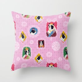 Elizabethan Dogs Throw Pillow