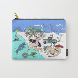 Colorful and Funny Grayton Beach Florida Beach Scene Carry-All Pouch