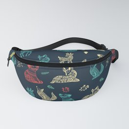 Cute Whimsical Forest Animals Pattern Fanny Pack