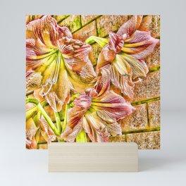 Vibrant abstract Amaryllis Mini Art Print