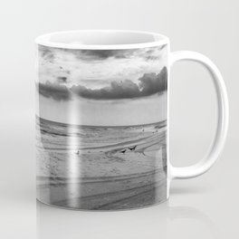 Driving on Assateague Island (Black and White) Coffee Mug