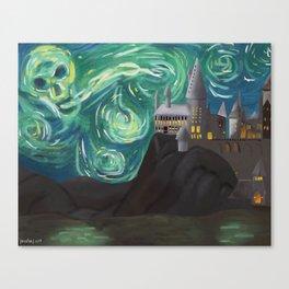 Starry Night at Hogwarts Canvas Print