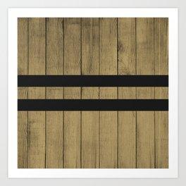 Design Brown Wood Stripes Art Print
