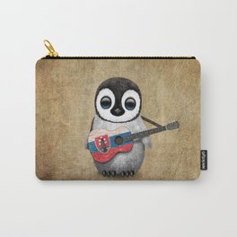 Baby Penguin Playing Slovakian Flag Guitar Carry-All Pouch