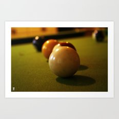 Snookered Art Print