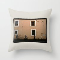 street Throw Pillows featuring Street by Dave Houldershaw