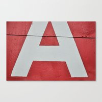 Red A Canvas Print