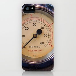 control - vintage industrial dials and gauges iPhone Case