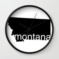 montana Wall Clocks featuring Montana by Isabel Moreno-Garcia