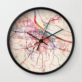Jefferson City map Missouri MO Wall Clock