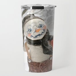 Rucus Studio Snow Day! Snowman Travel Mug
