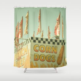 Corn Dogs Shower Curtain