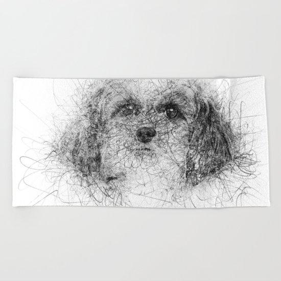 Dog Line Beach Towel