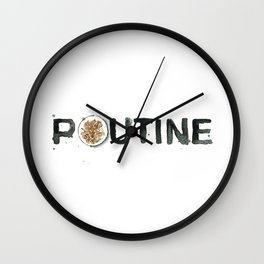 Favourite Things - Poutine Wall Clock