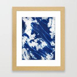 Shibori Wave Framed Art Print