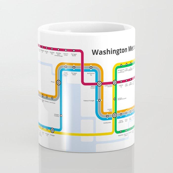 Schematic Washington Metro Map Coffee Mug