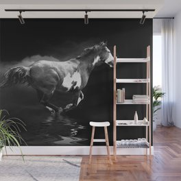 Galloping Pinto Horse Wall Mural