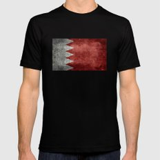 The flag of the Kingdom of Bahrain - Authentic version MEDIUM Mens Fitted Tee Black