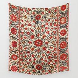 Bokhara Suzani Uzbekistan Colorful Embroidery Print Wall Tapestry