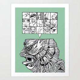 the man the monster Art Print