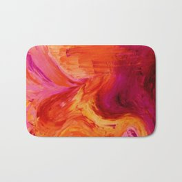 Abstract Hurricane II by Robert S. Lee Bath Mat